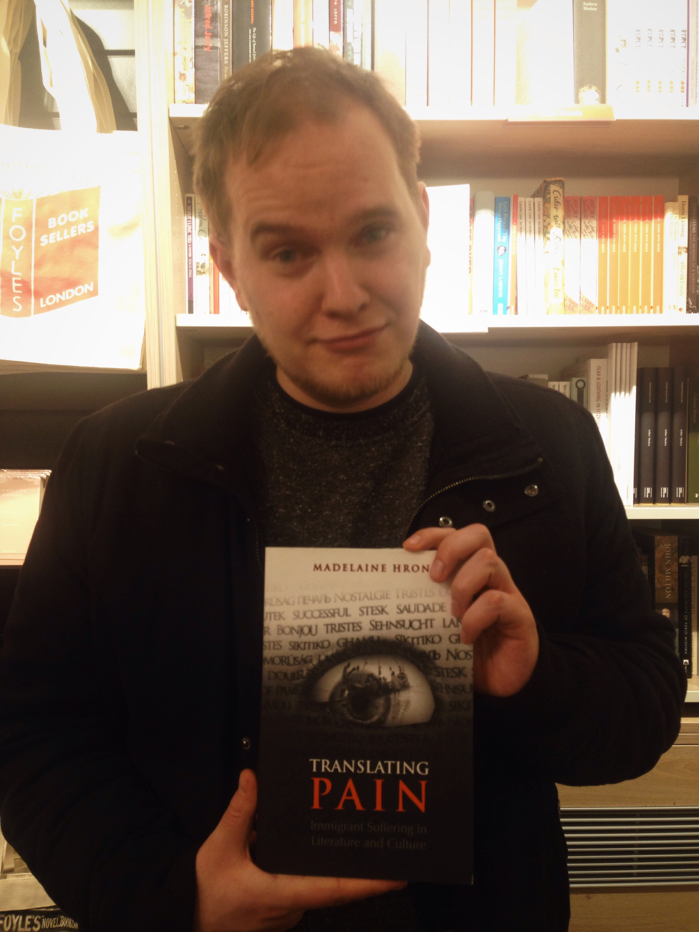 Christoffer in pain